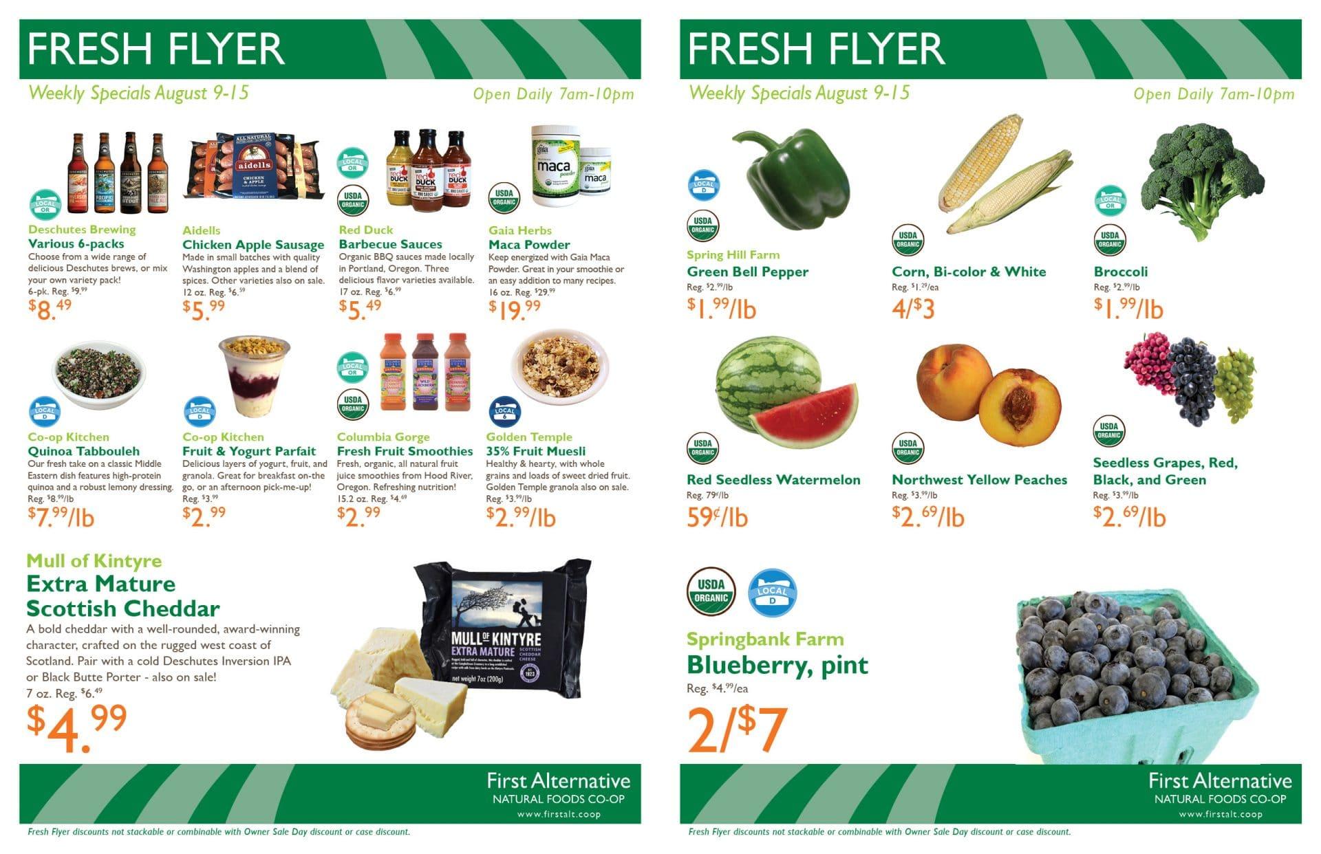 First Alternative Co-op Fresh Flyer August 2-8