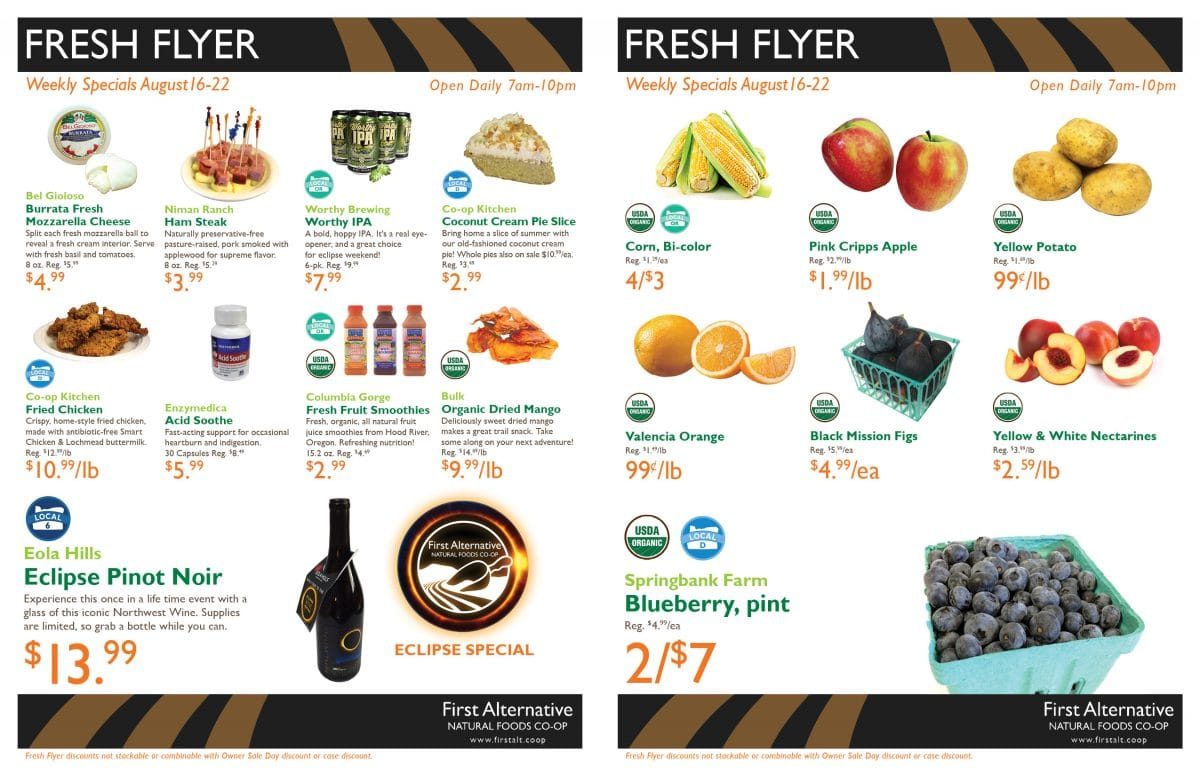 First Alternative Fresh Flyer Aug 16-22