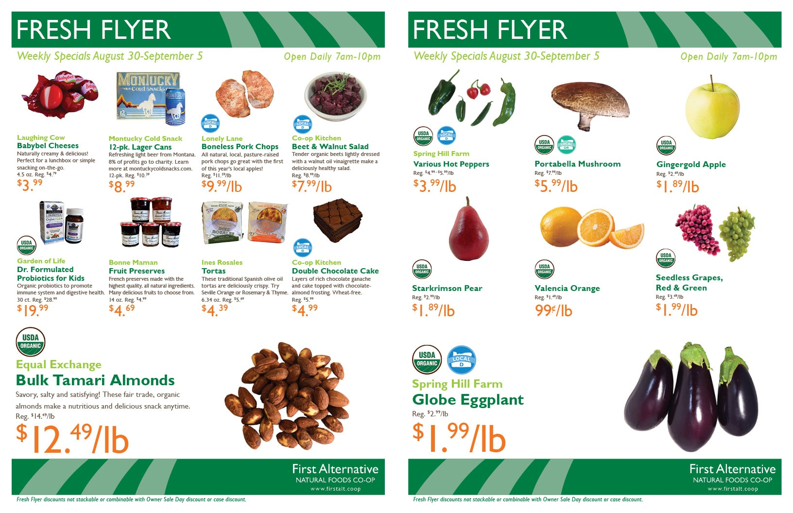 First Alternative Co-op Fresh Flyer August 30-September 5