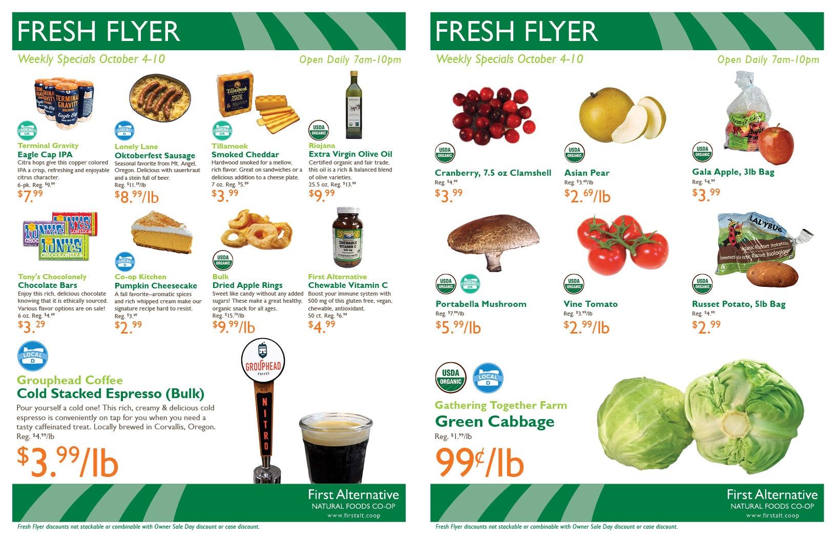 First Alternative Co-op Fresh Flyer October 4-10