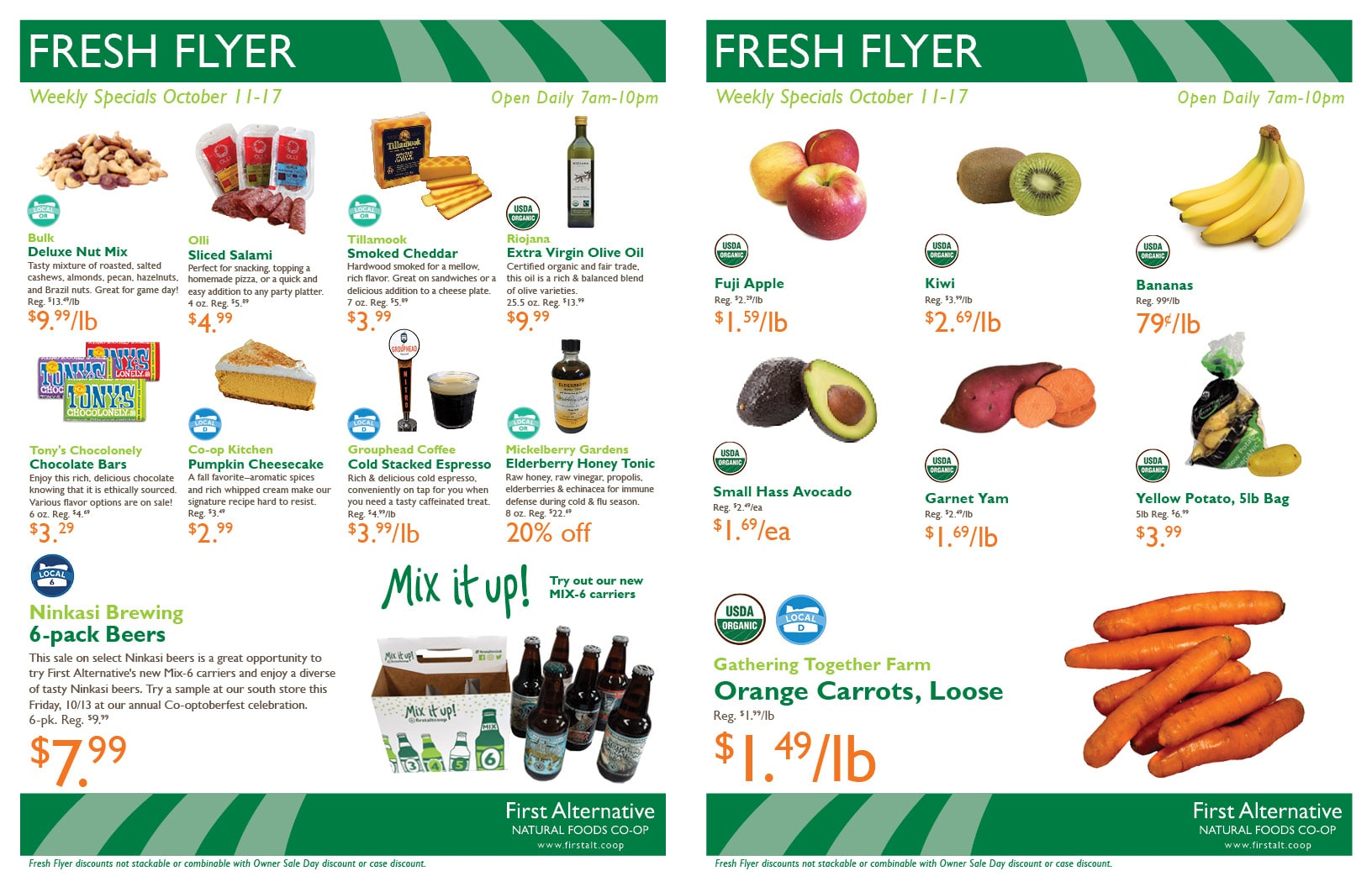 First Alternative Co-op Fresh Flyer October 11-17