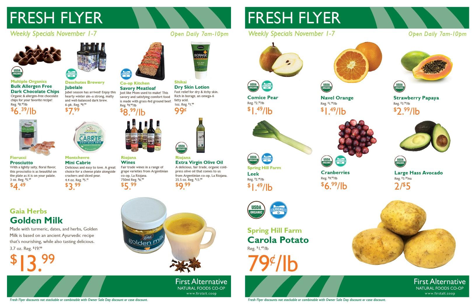 First Alternative Co-op Fresh Flyer November 1-7