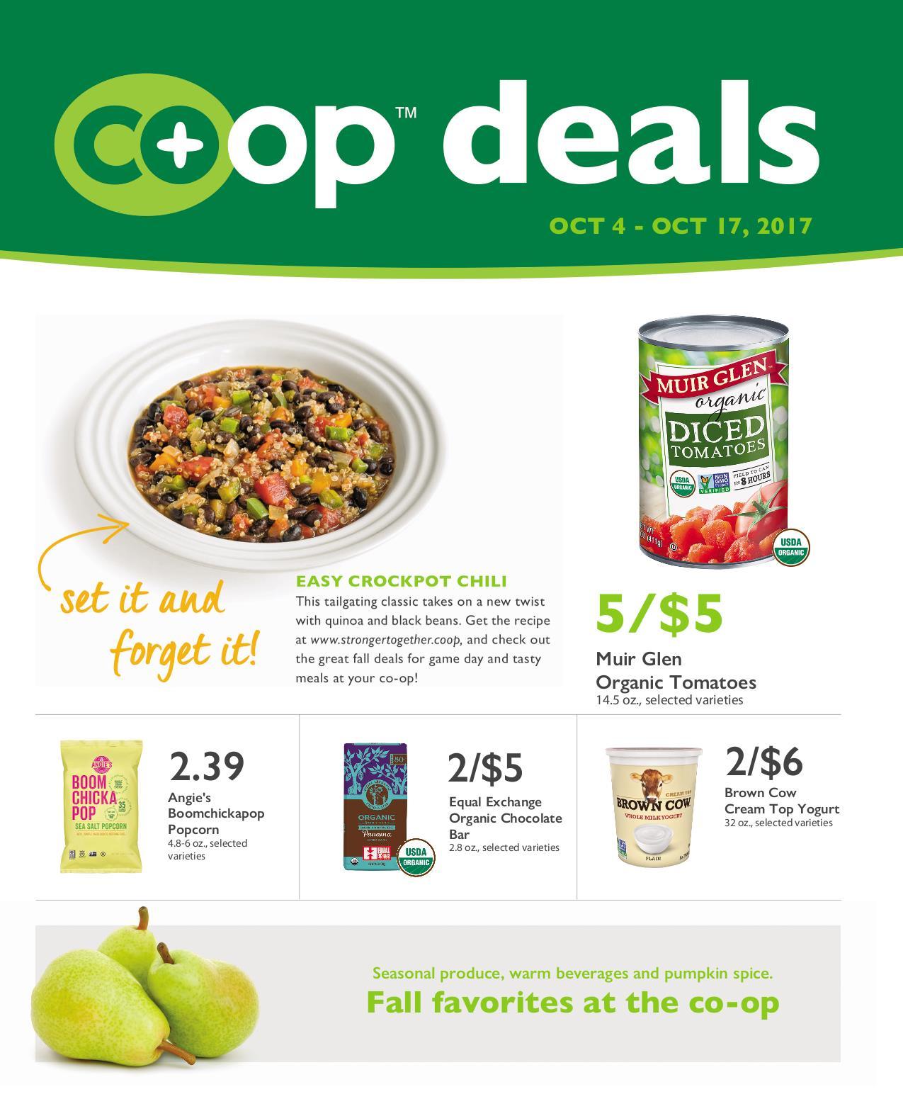 First Alternative Co-op Fresh Flyer October 4-17