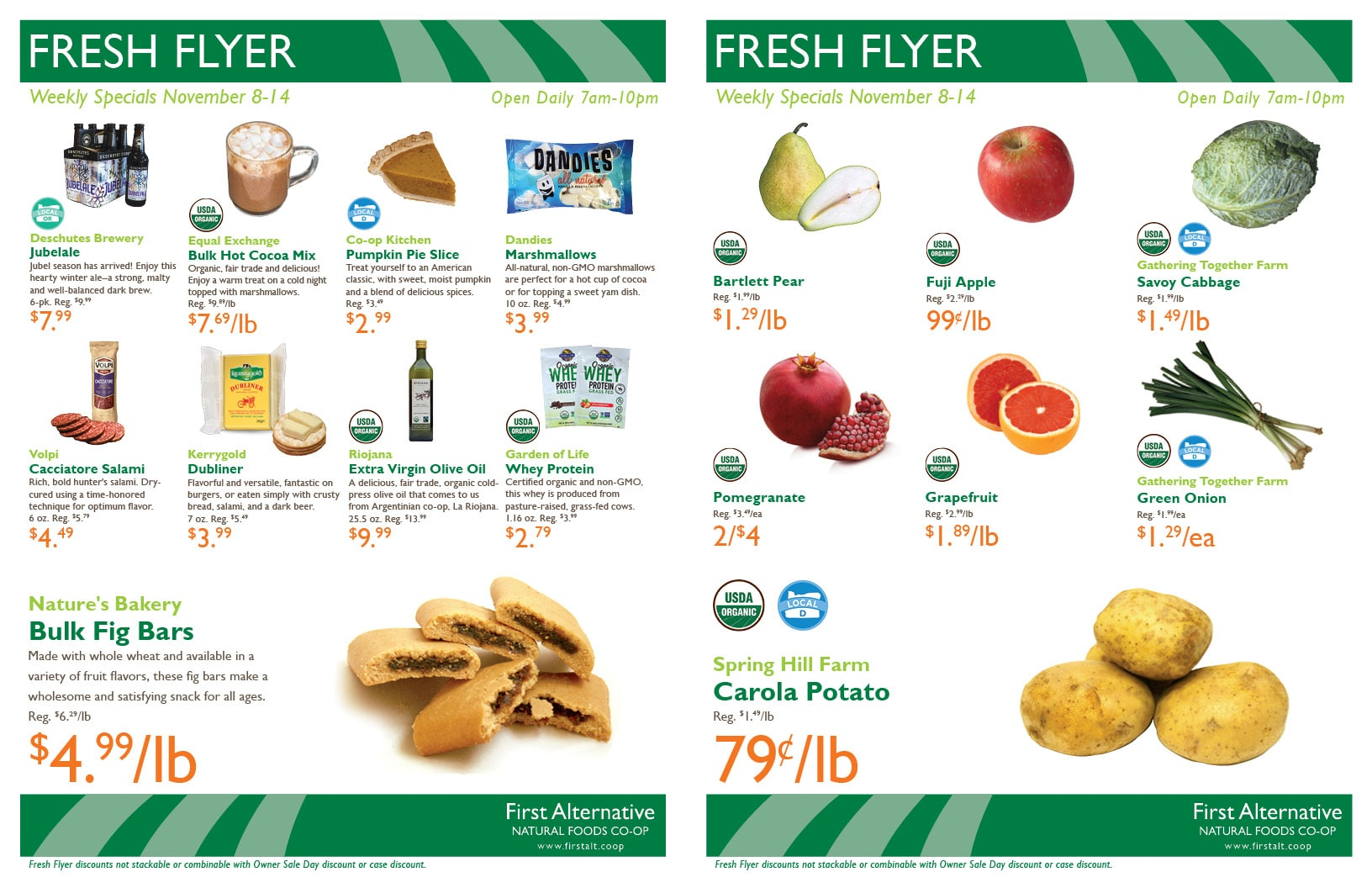 First Alternative Co-op Fresh Flyer November 8-14