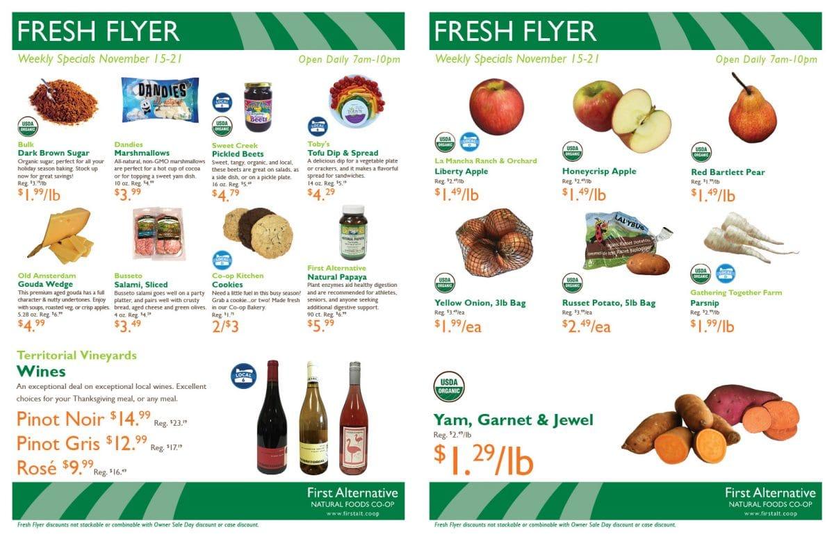 First Alternative Fresh Flyer Nov 15-21