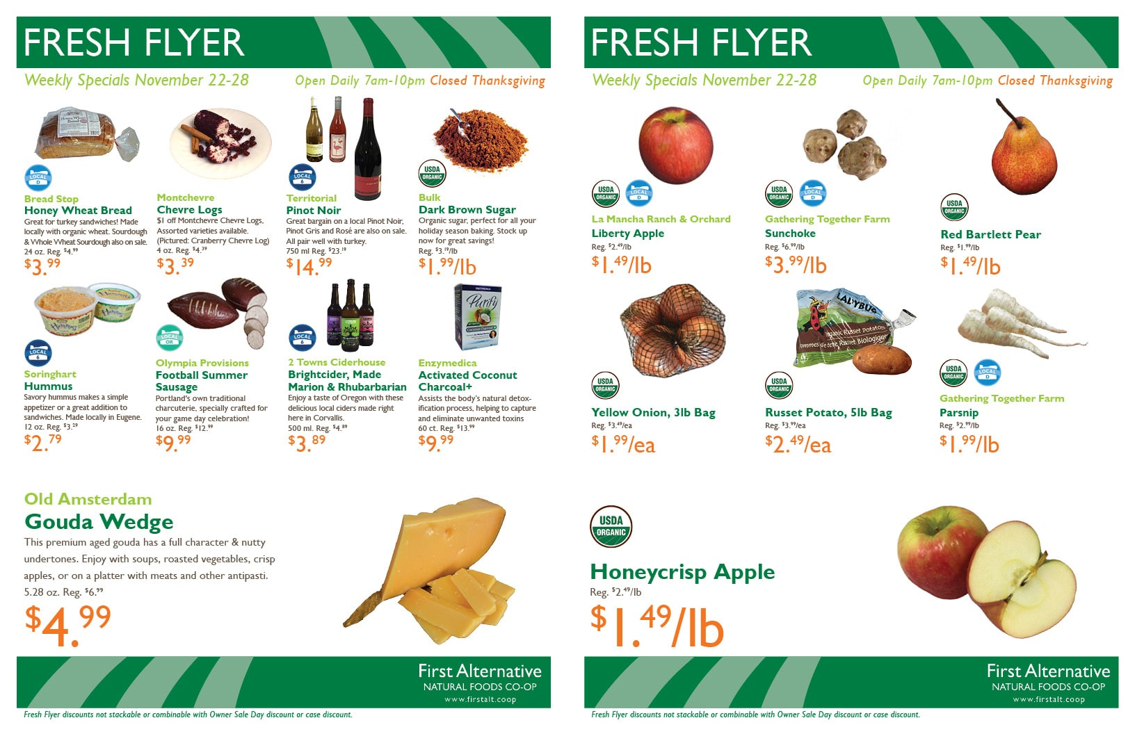 First Alternative Co-op Fresh Flyer November 22-28