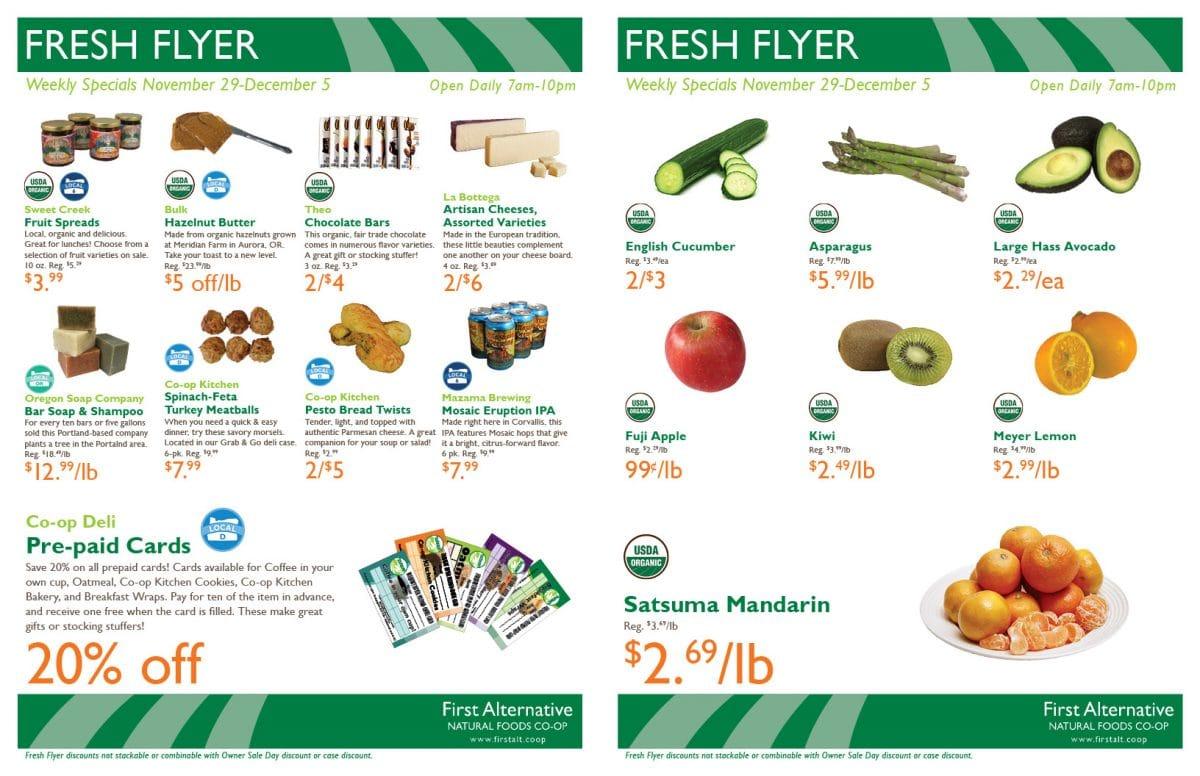First Alternative Fresh Flyer Nov 29-Dec 5