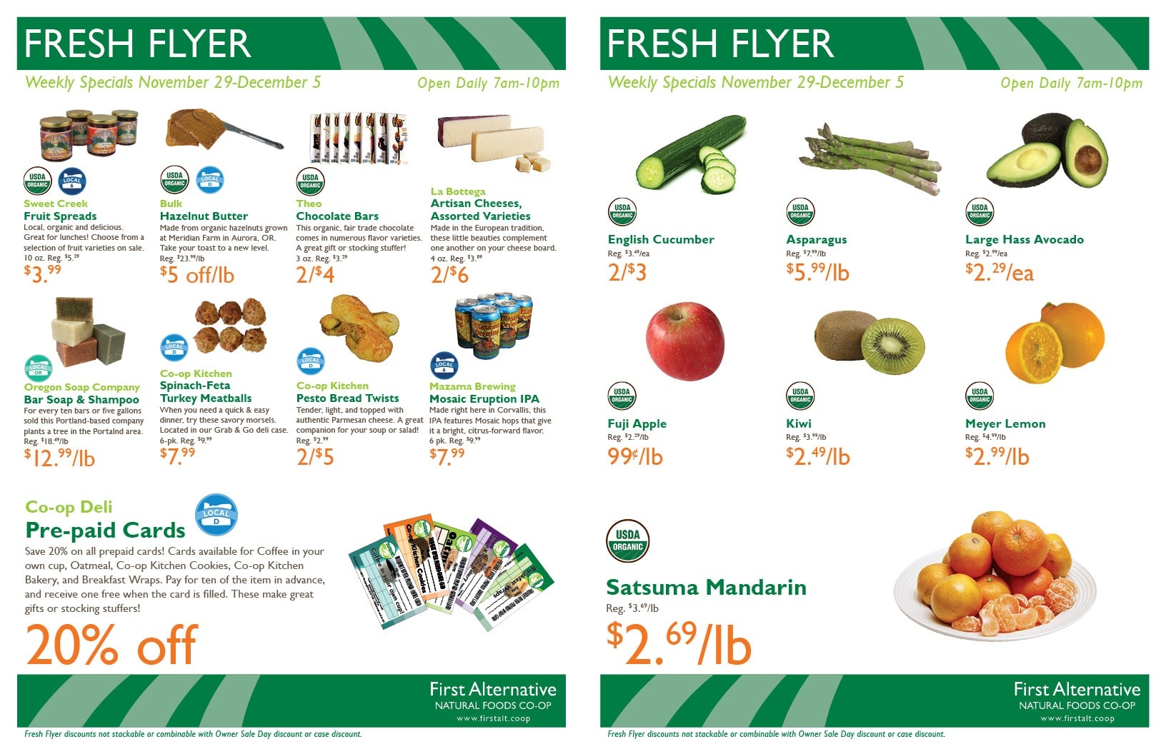 First Alternative Co-op Fresh Flyer November 29-December 5