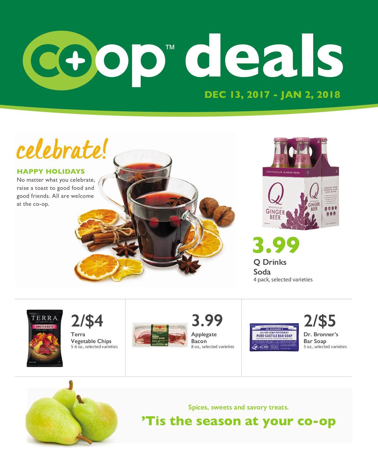First Alternative Co-op Fresh Flyer December 13-January 2