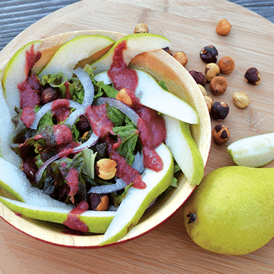 Oregon Pear Hazelnut Salad