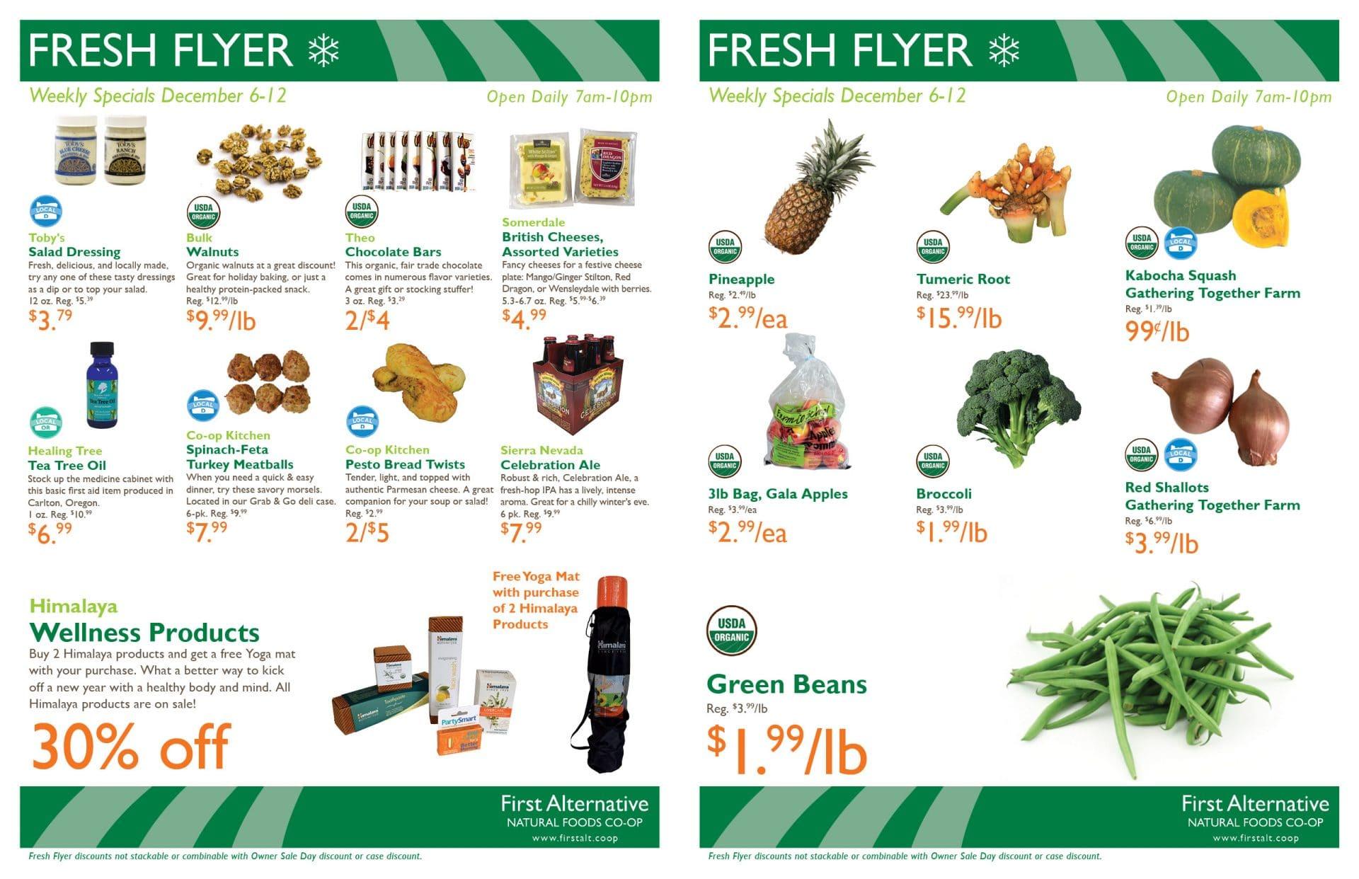 First Alternative Co-op Fresh Flyer November 29-December 5