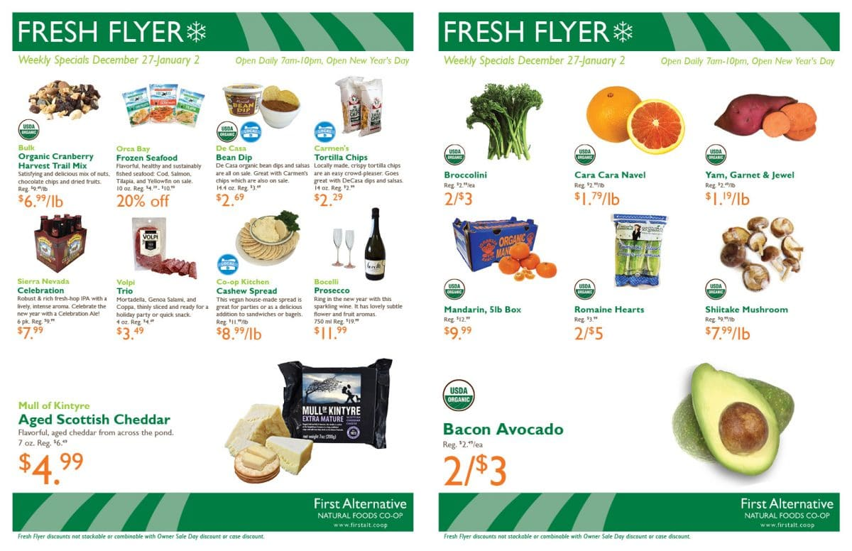First Alternative Fresh Flyer Dec 27-Jan 2