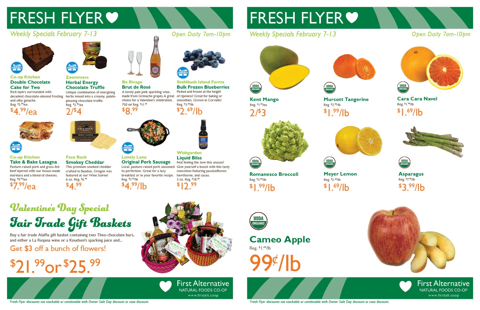 First Alternative Co-op Fresh Flyer February 7-13
