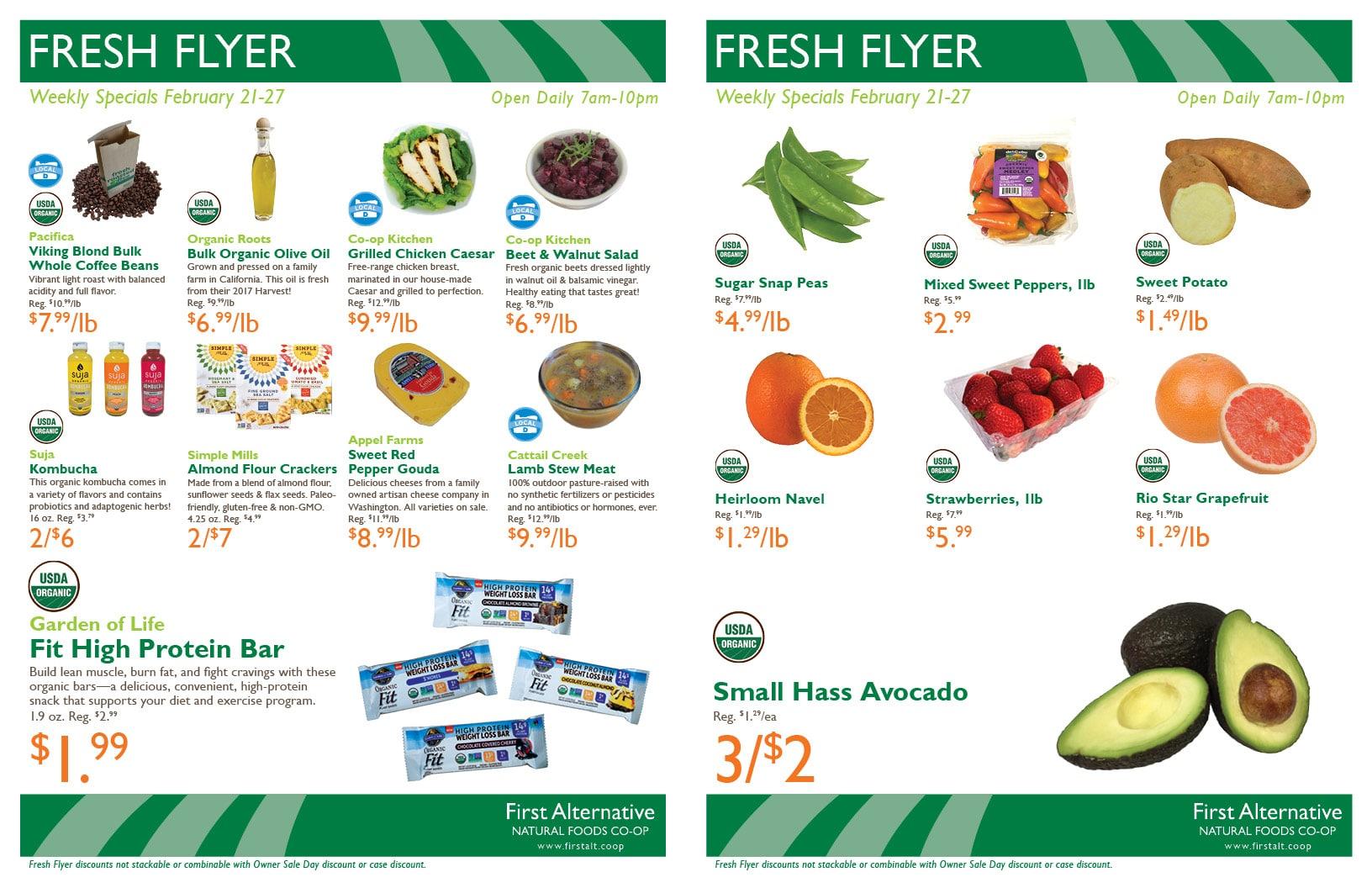 First Alternative Co-op Fresh Flyer February 21-27