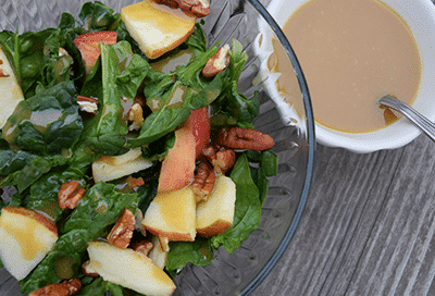 Spinach, Apple, and Pecan Salad