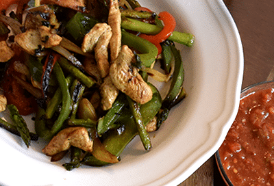 Chicken Fajitas with Asparagus