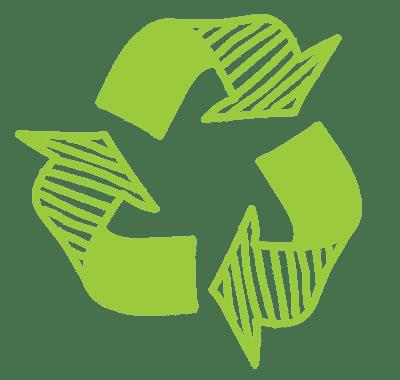 Hand-drawn Recycling LtGrn
