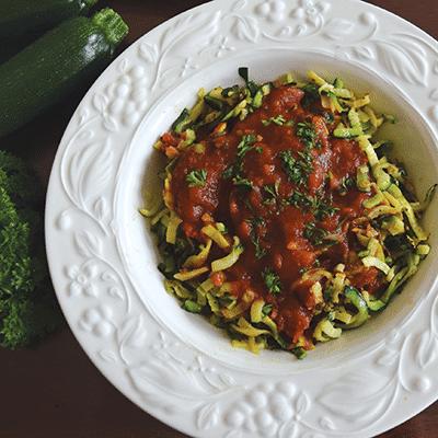 Spiralized Zucchini Noodles