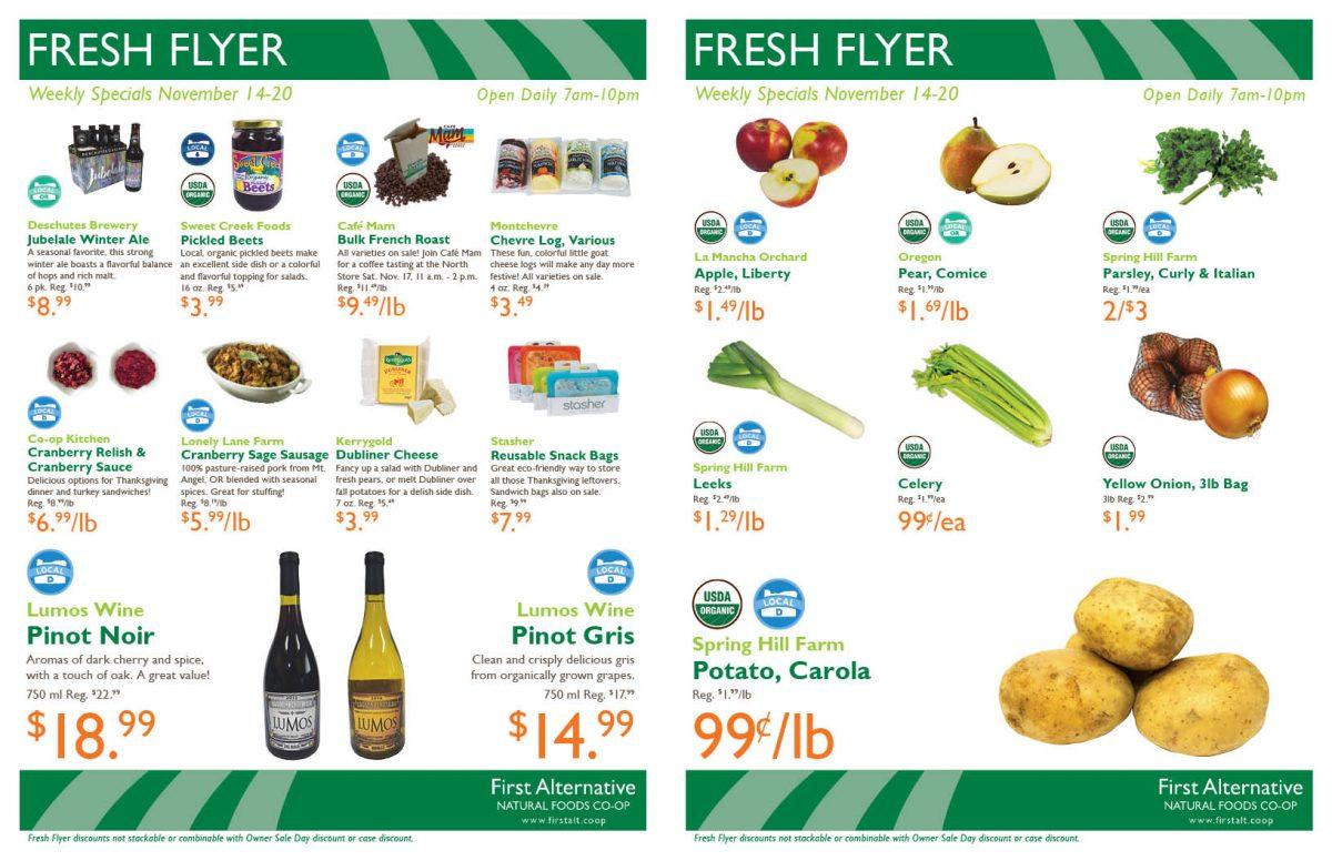 First Alternative Fresh Flyer Nov 14-20