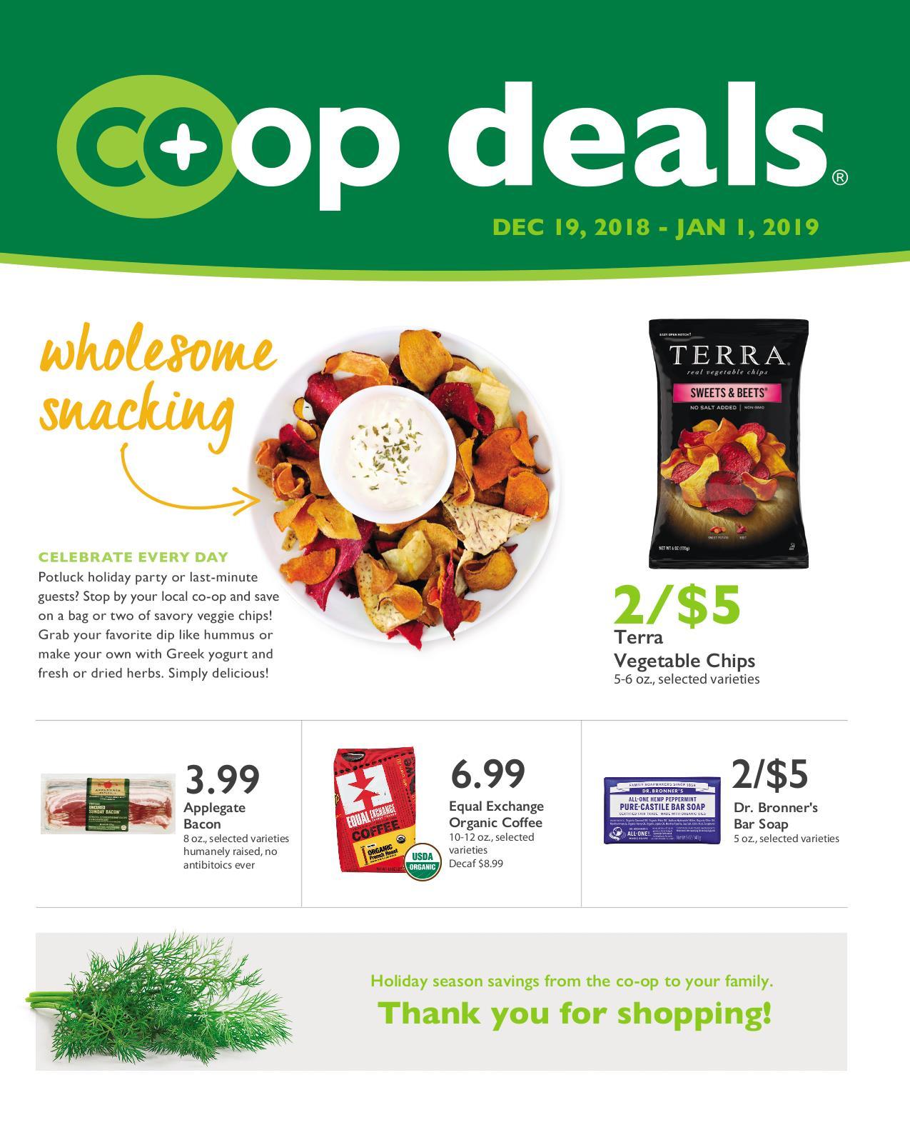 First Alternative Co-op Fresh Flyer December 19-January 1