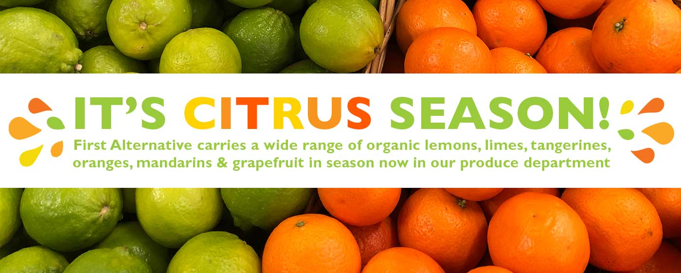 Fresh Organic Citrus Slider 2018