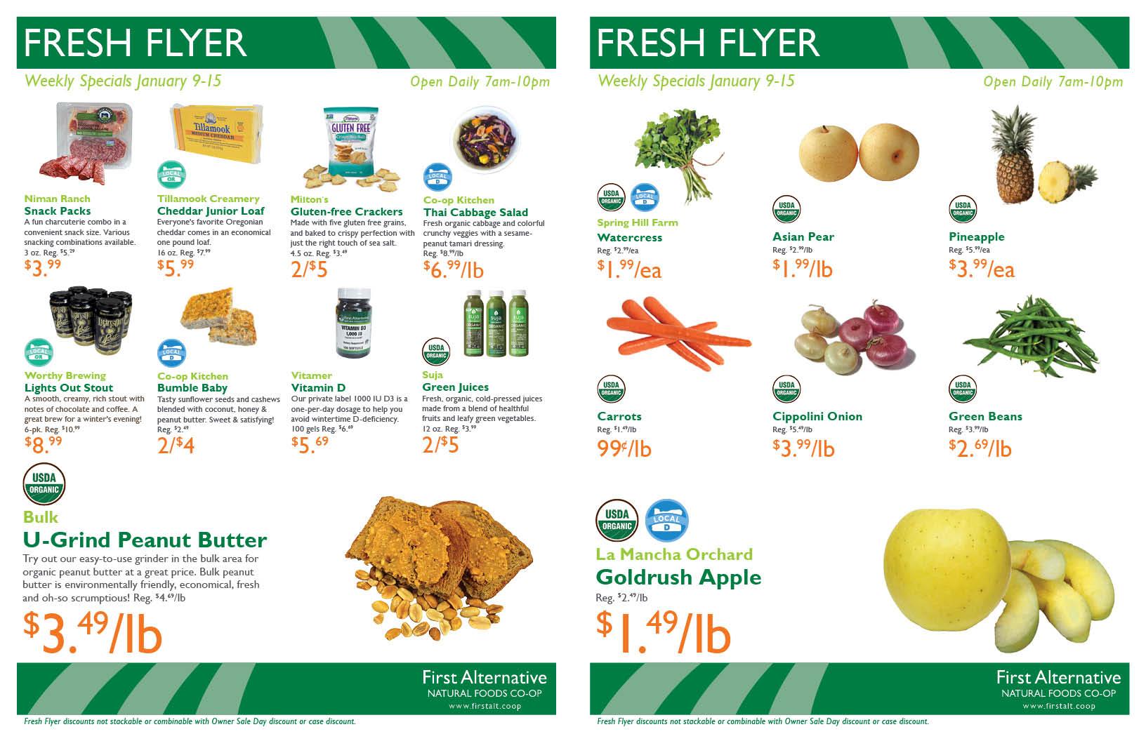 First Alternative Co-op Fresh Flyer January 9-15