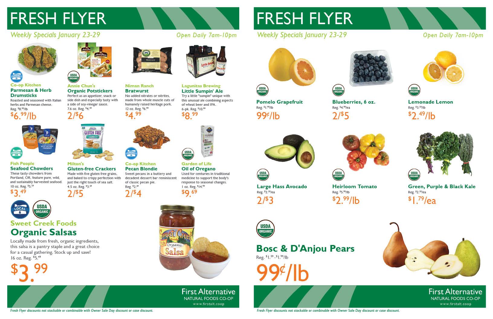 First Alternative Co-op Fresh Flyer January 23-29