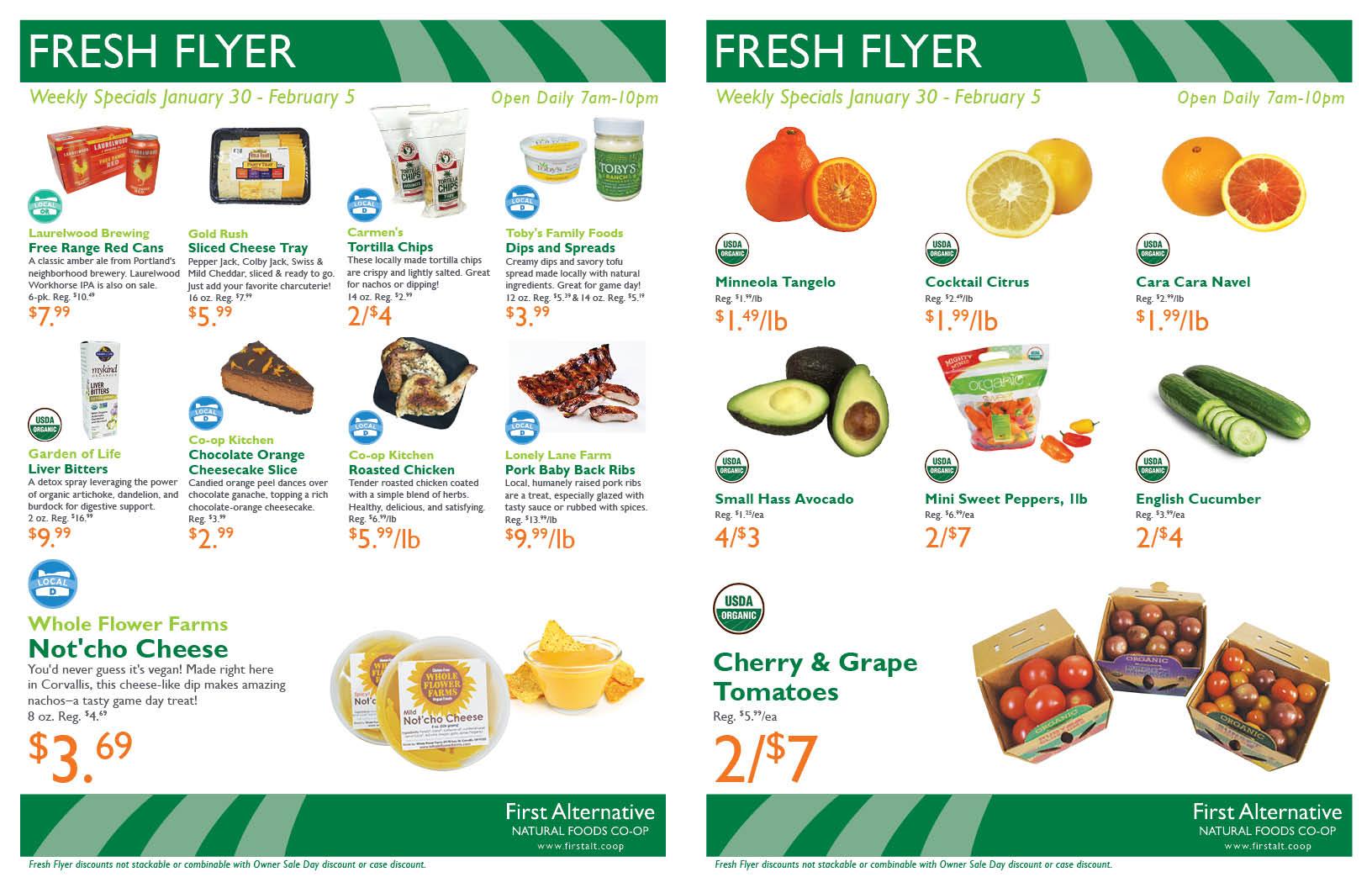 First Alternative Co-op Fresh Flyer January 30-February 5