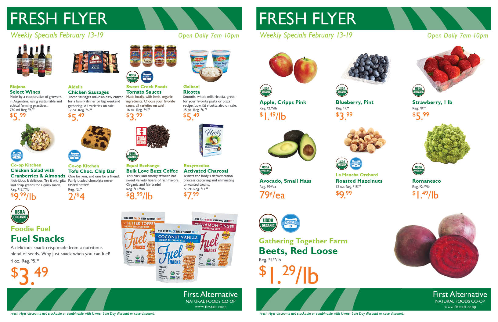 First Alternative Co-op Fresh Flyer February 13-19