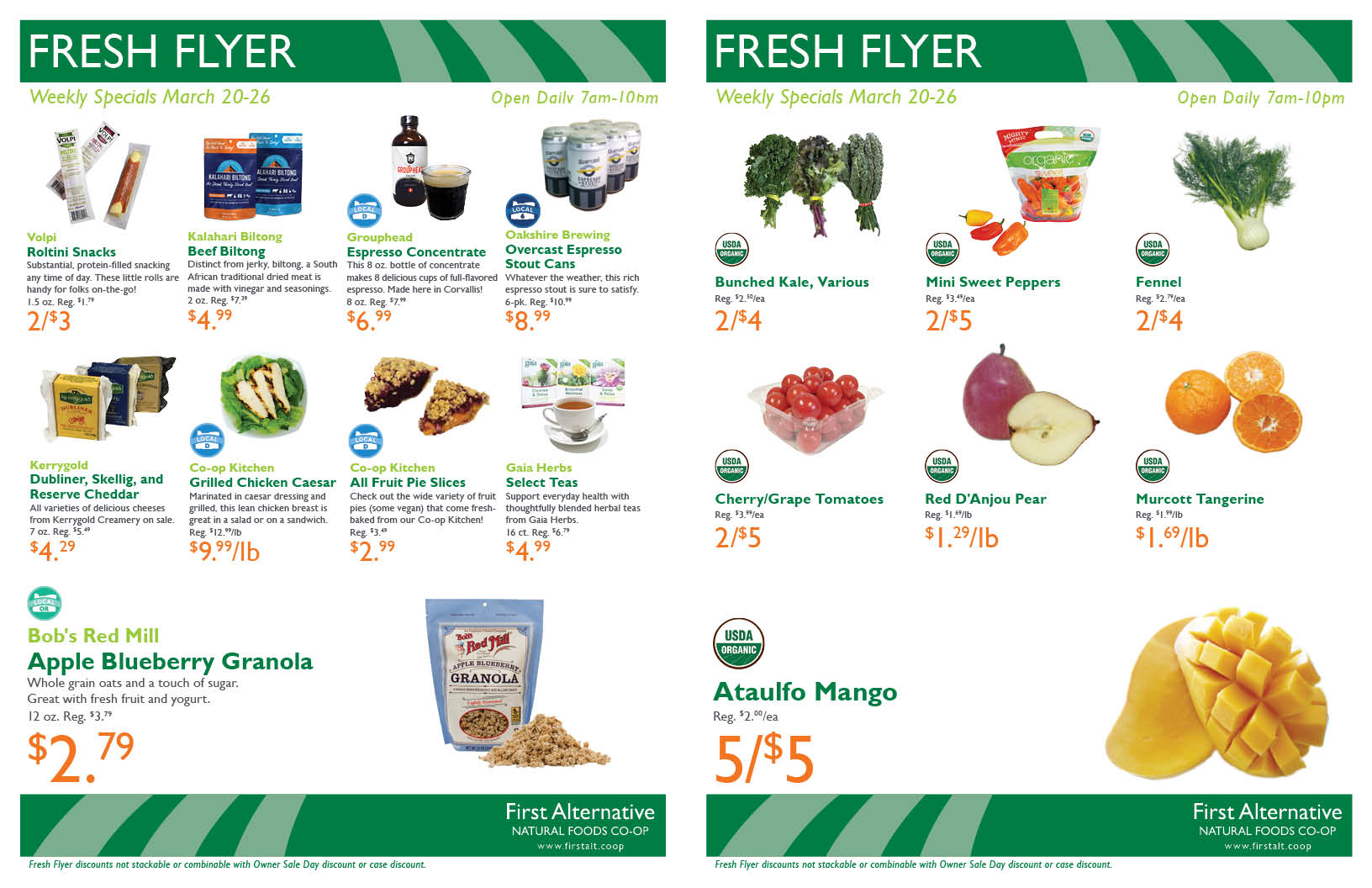 First Alternative Co-op Fresh Flyer March 20-26