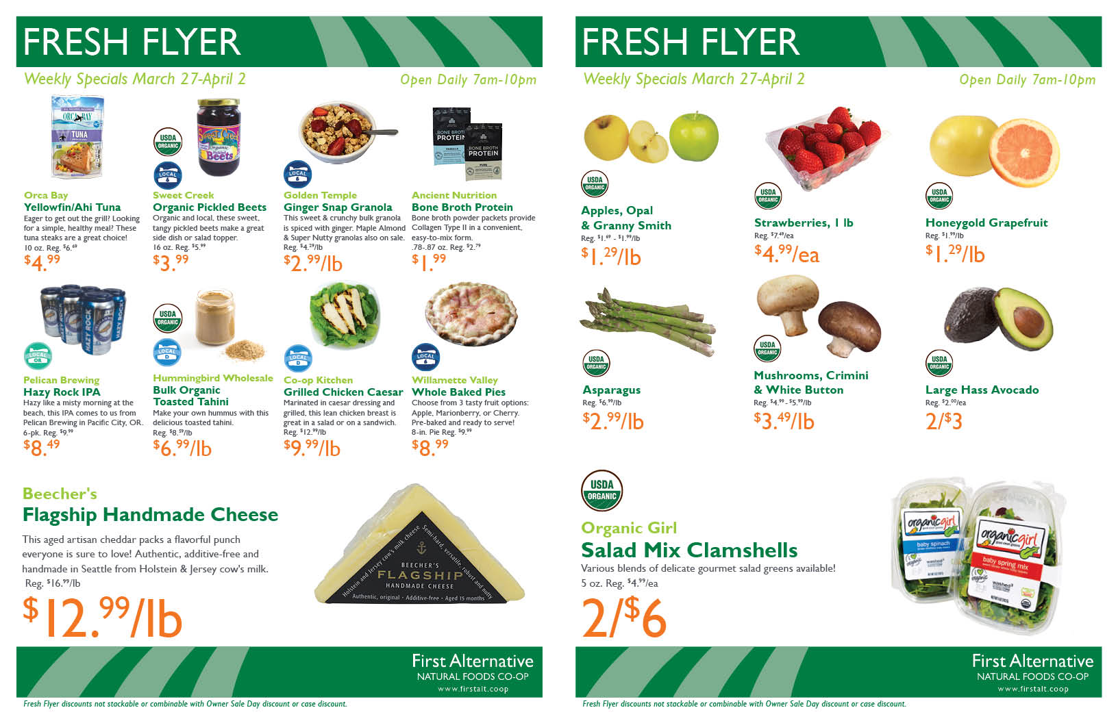 First Alternative Co-op Fresh Flyer March 27-April 2