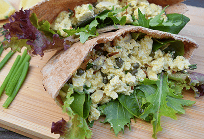 Lemony Tofu Egg Salad