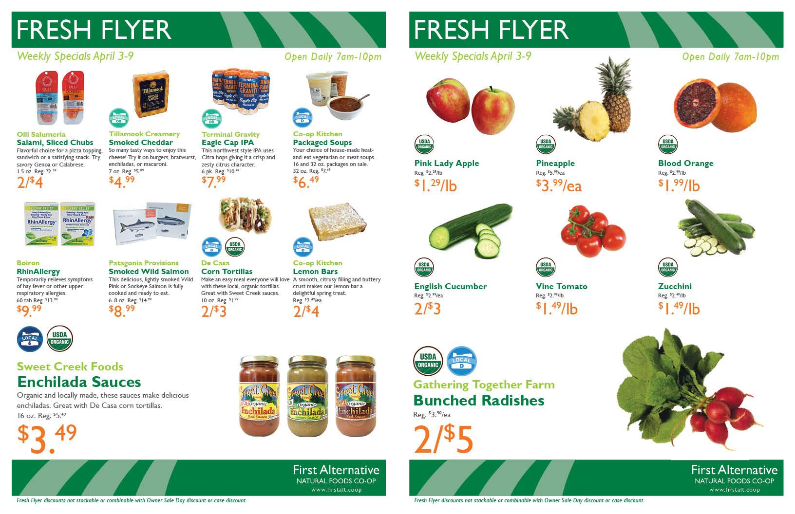 First Alternative Co-op Fresh Flyer April 3-9