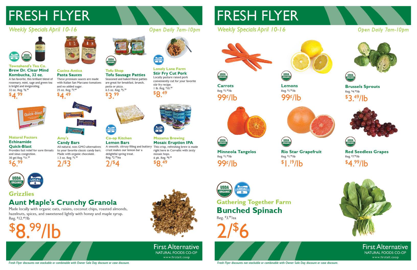 First Alternative Co-op Fresh Flyer April 10-16