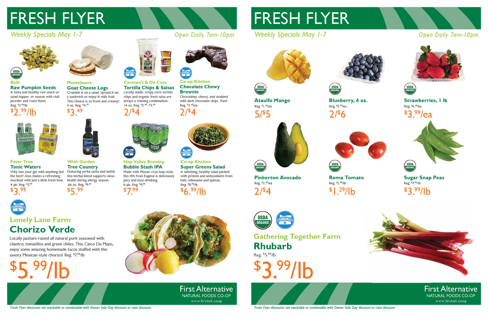 First Alternative Co-op Fresh Flyer May 1-7