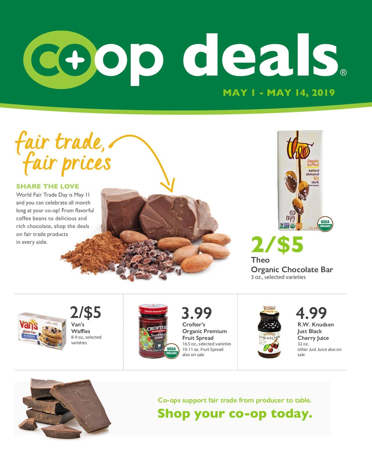 First Alternative Co-op Deals Flyer May 1-14
