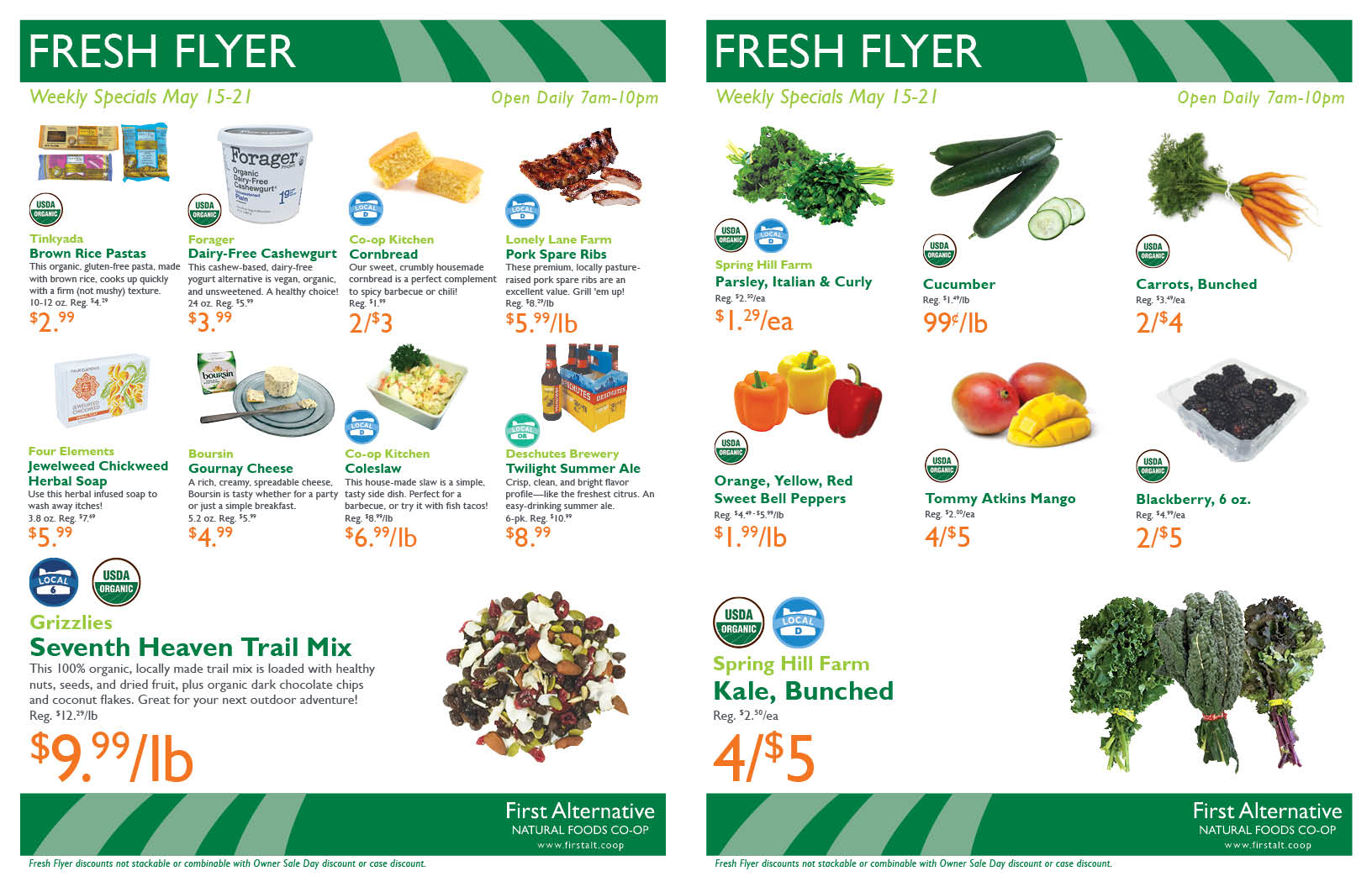 First Alternative Co-op Fresh Flyer May 15-21