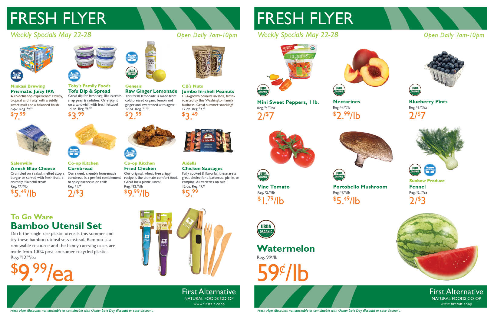 First Alternative Co-op Fresh Flyer May 22-28