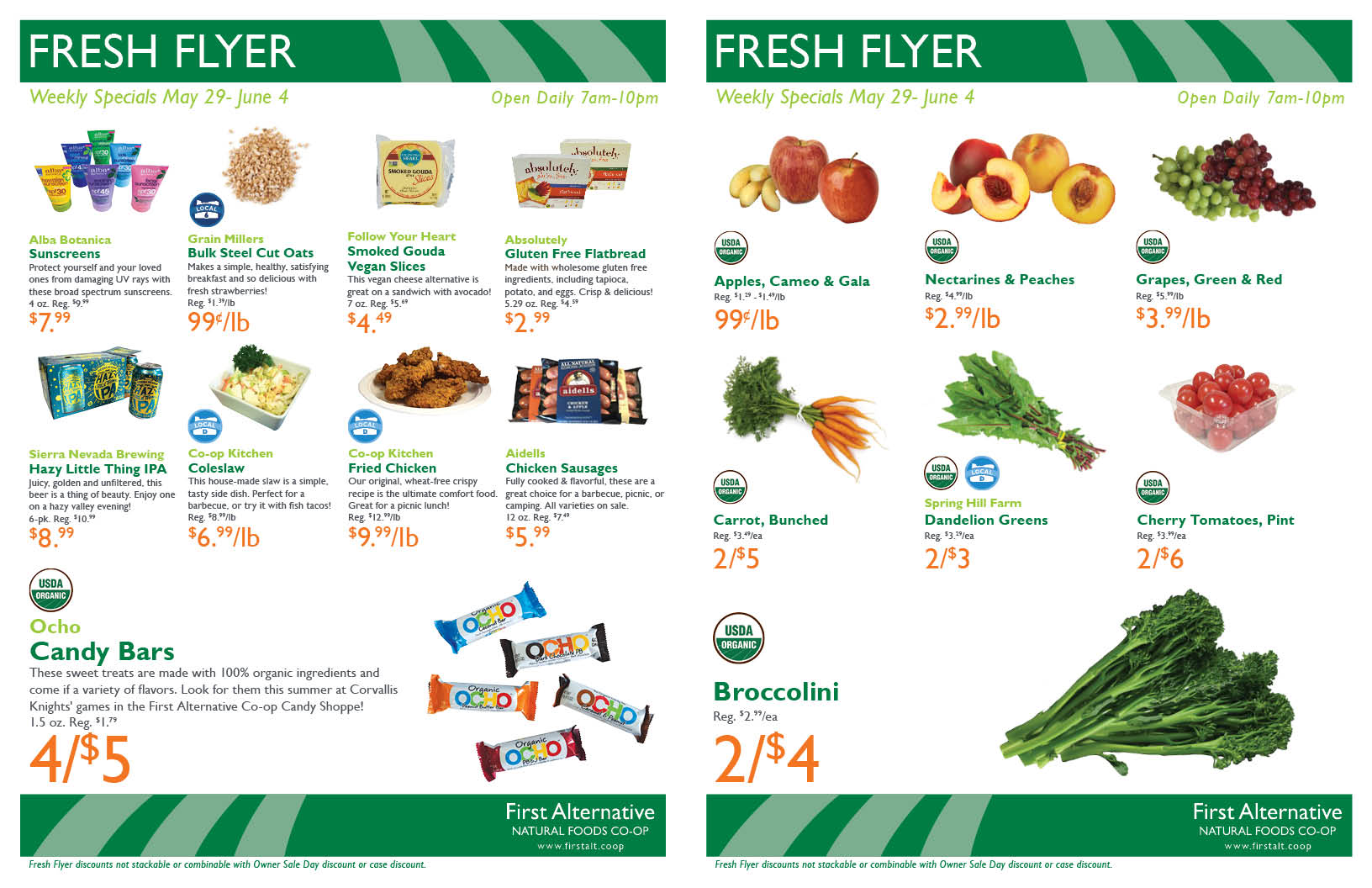 First Alternative Co-op Fresh Flyer May 29 - June 4