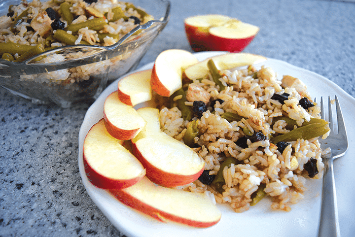 Chicken and Rice Salad with Apples