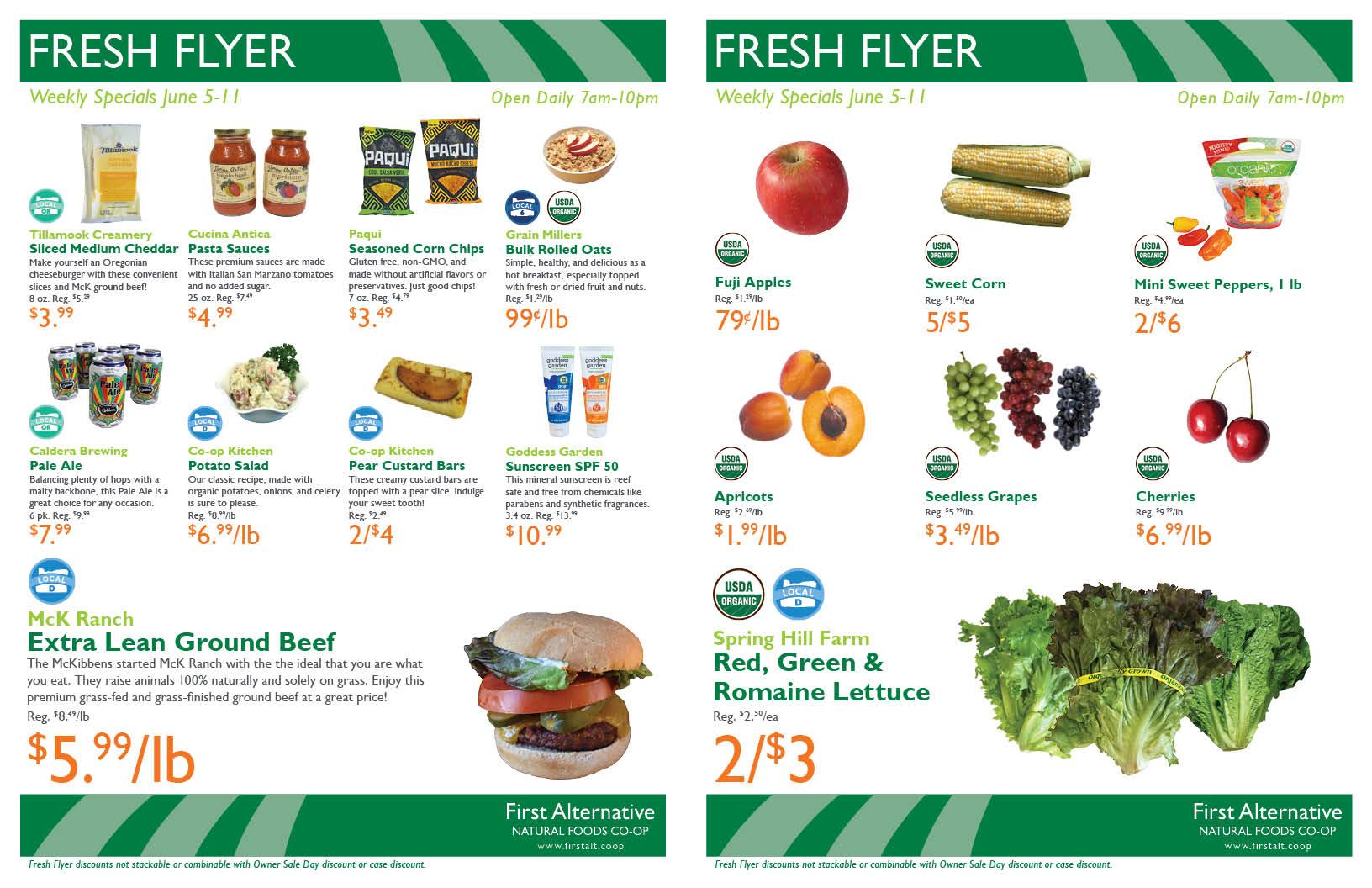 First Alternative Co-op Fresh Flyer June 5-11
