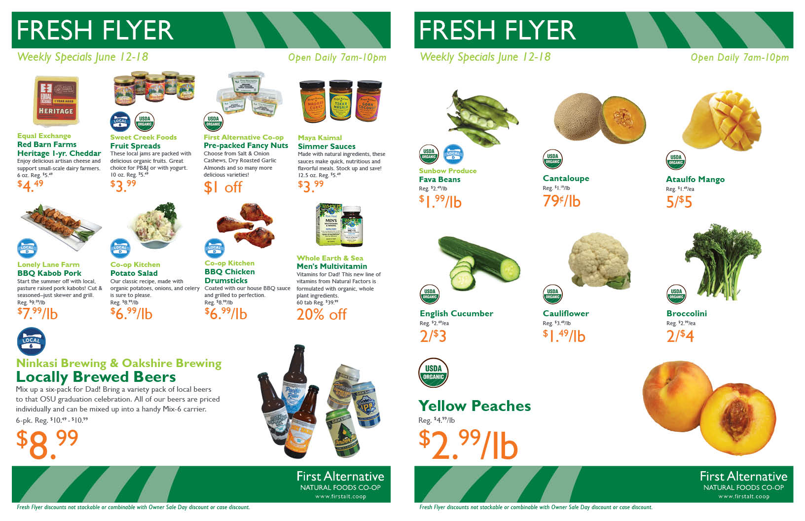 First Alternative Co-op Fresh Flyer June 12-18
