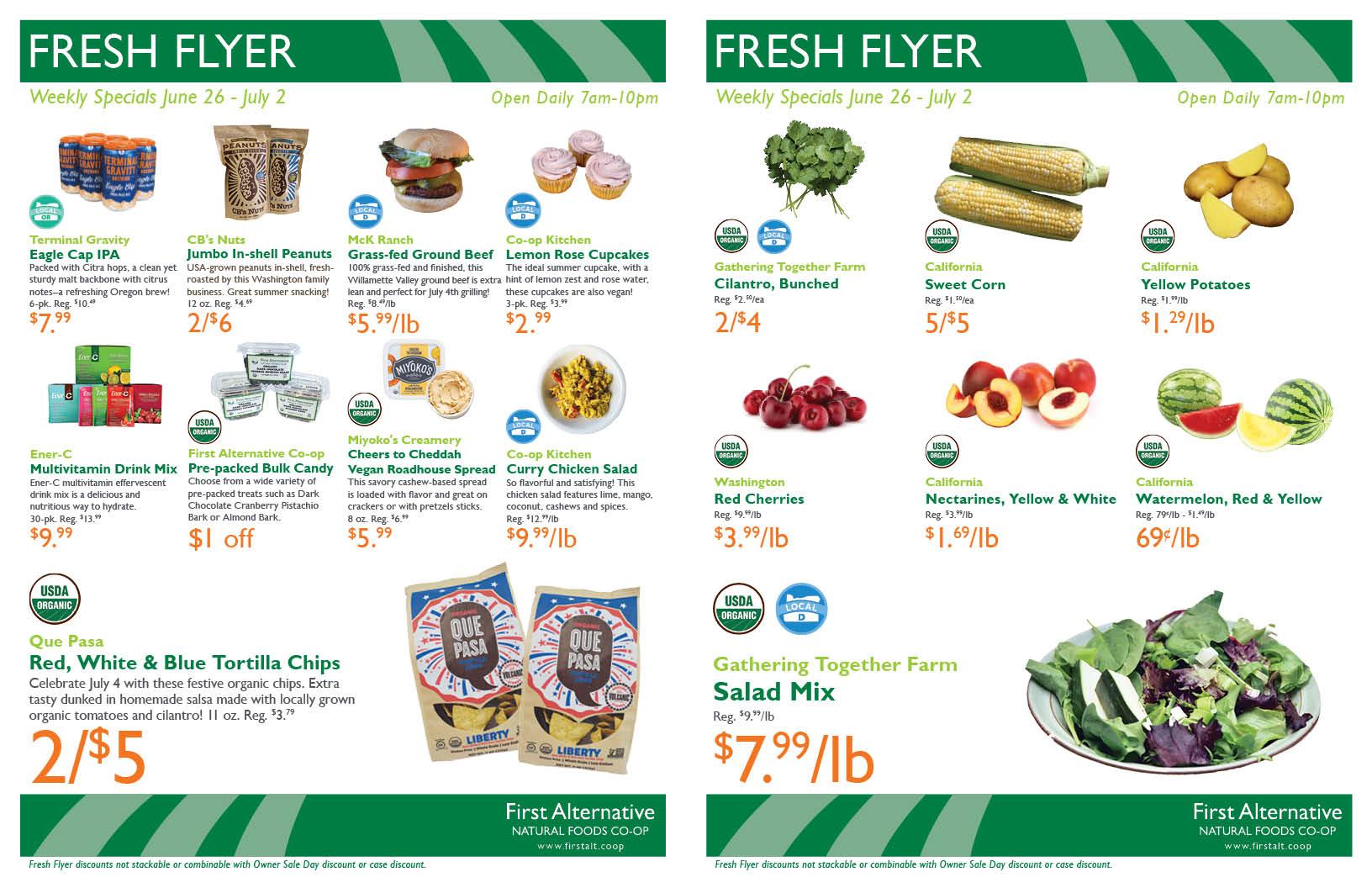 First Alternative Co-op Fresh Flyer June 26-July 2
