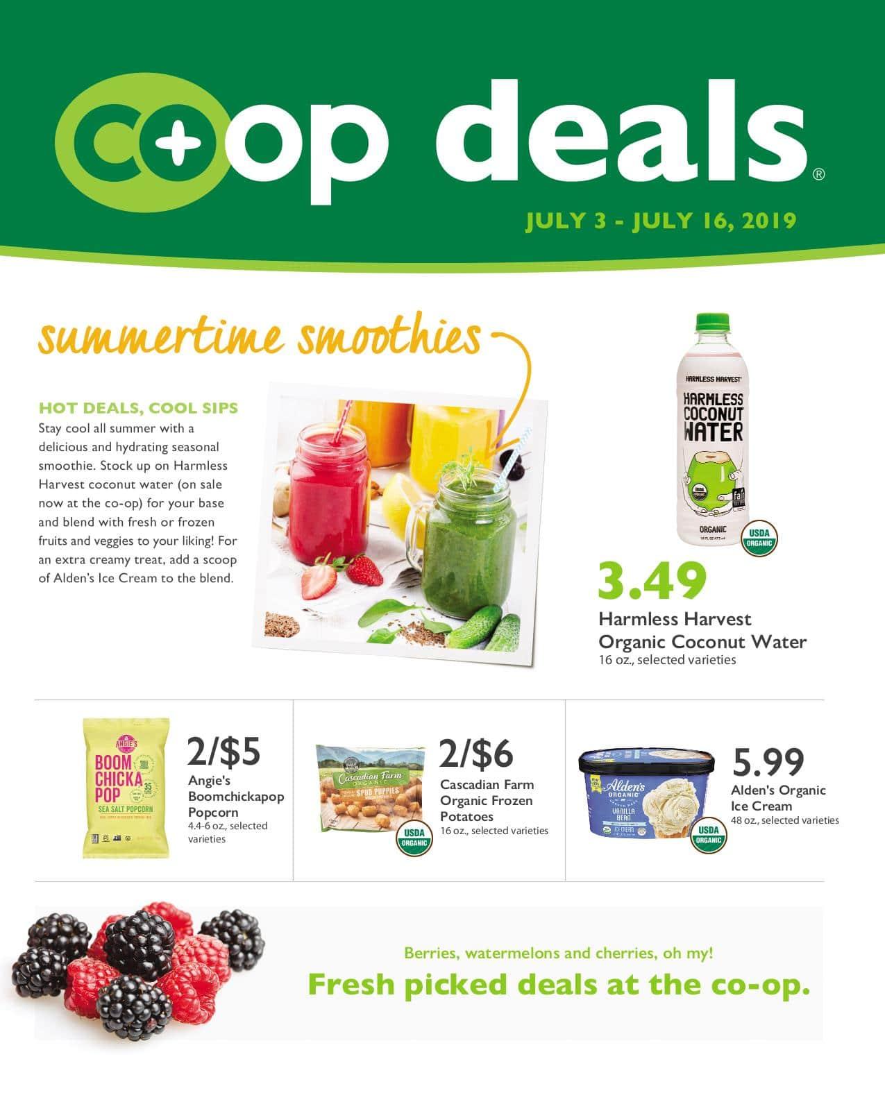 First Alternative Co-op Deals Flyer July 3-16