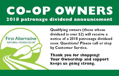 Patronage Dividend Announcement