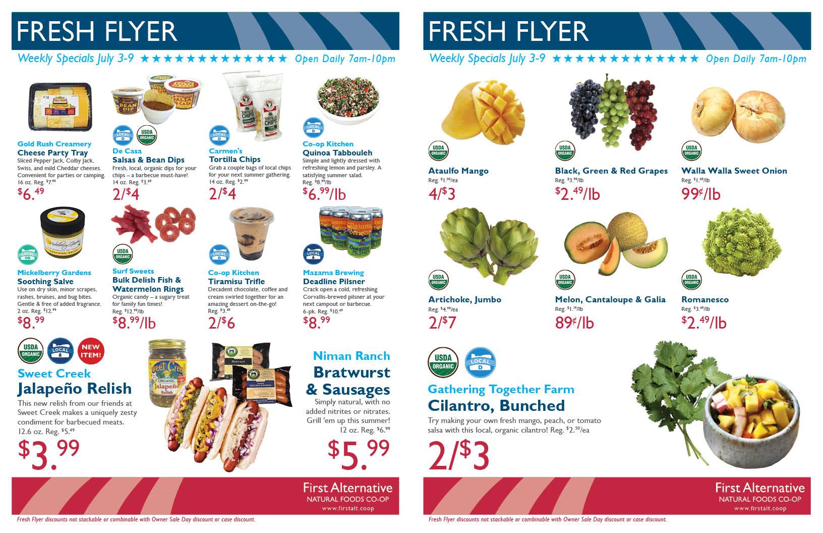 First Alternative Co-op Fresh Flyer July 3-9