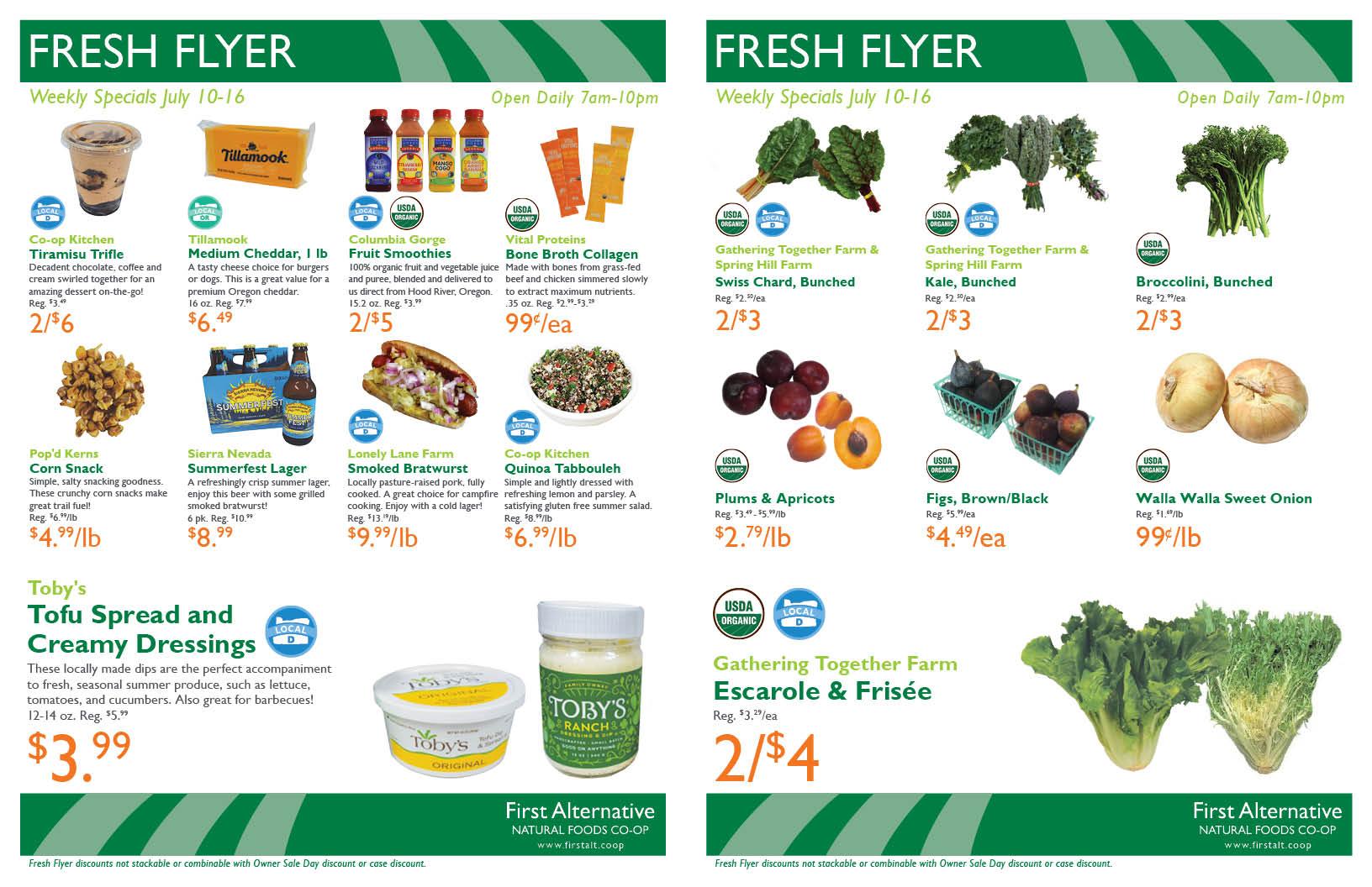 First Alternative Co-op Fresh Flyer July 10-16