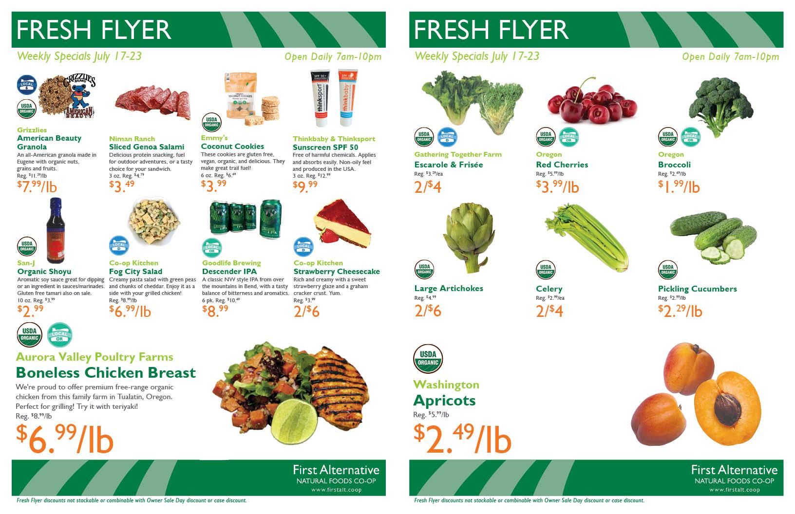First Alternative Co-op Fresh Flyer July 17-23