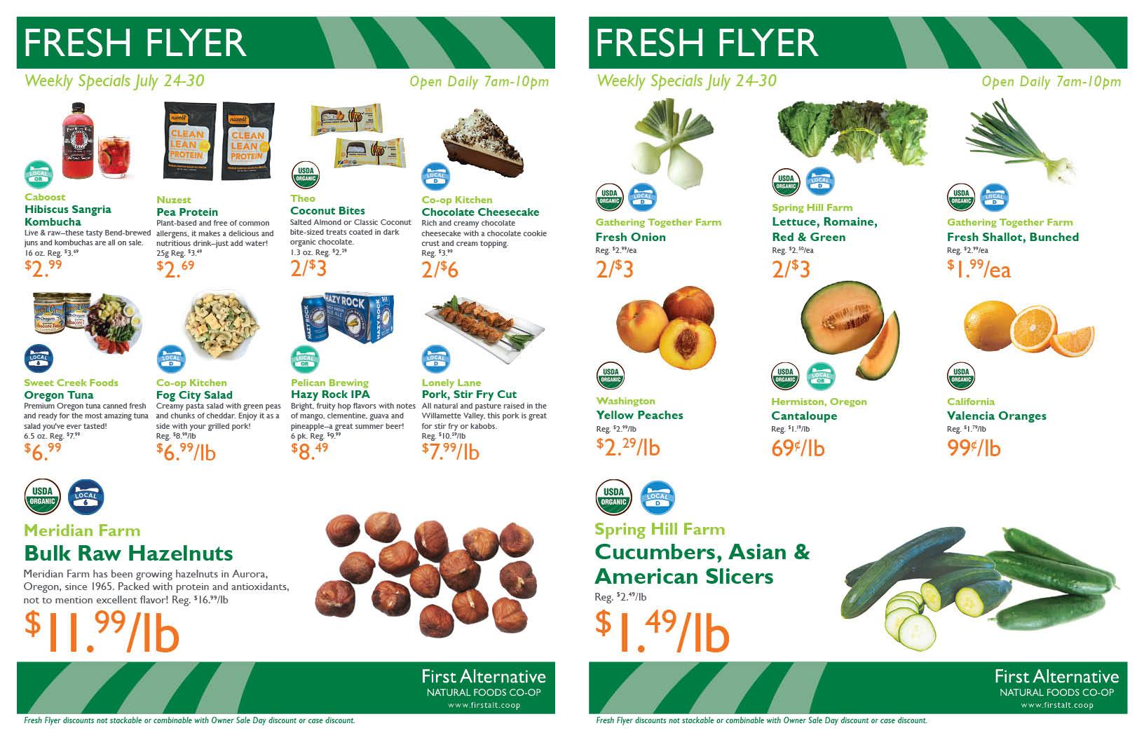 First Alternative Co-op Fresh Flyer July 24-30