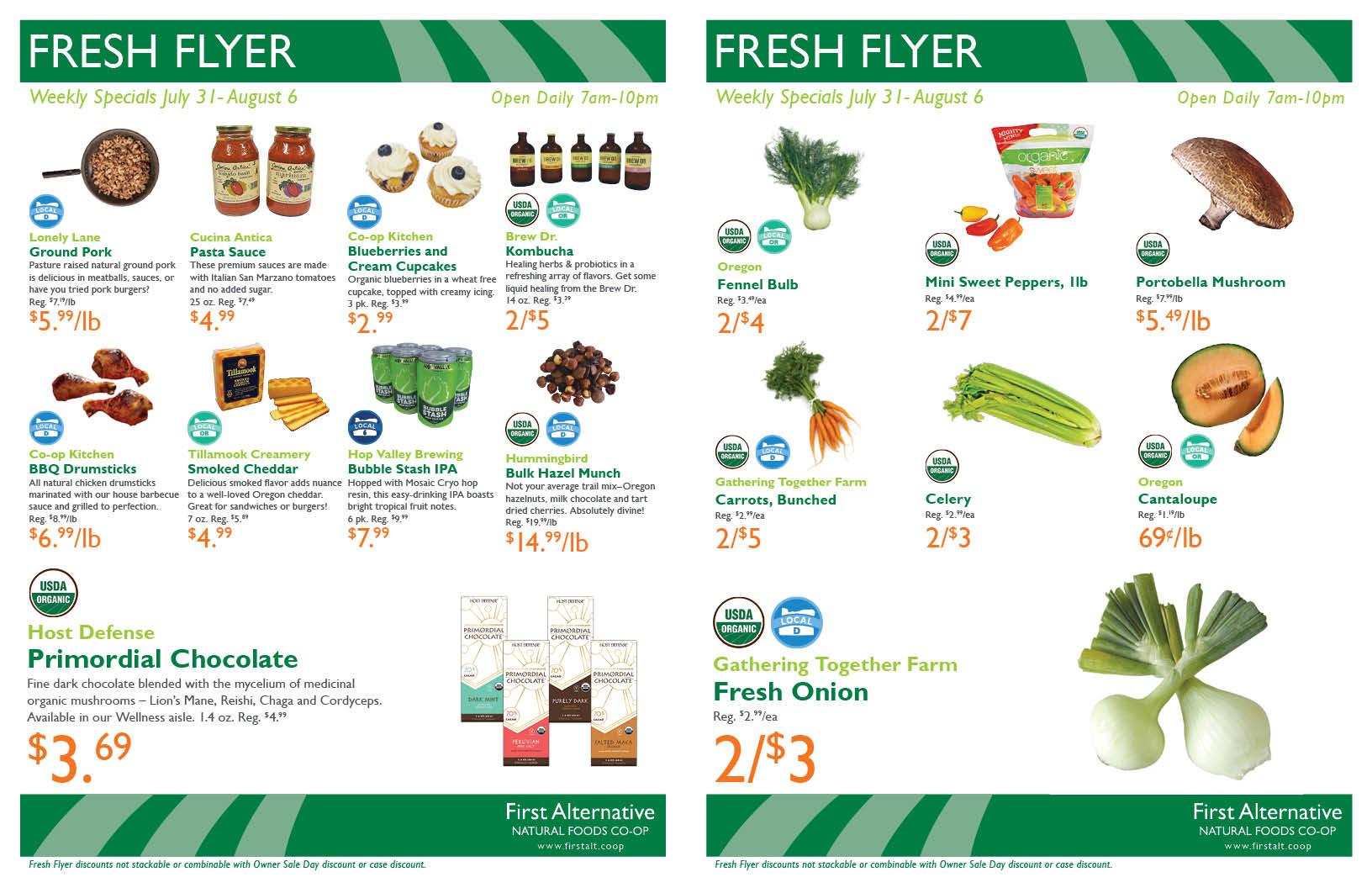 First Alternative Co-op Fresh Flyer July 31 - August 6